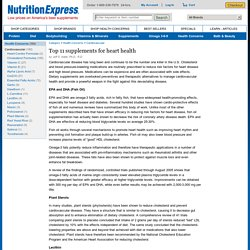 Top 11 supplements for heart health - Nutrition Express Articles