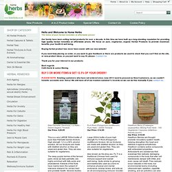 Buy herb supplements and health products at HomeHerbs.co.uk