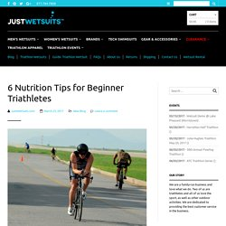 Beginners Triathlon Nutrition Tips