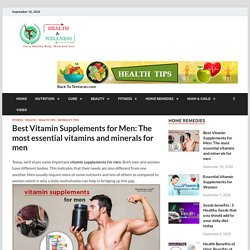 vitamin supplements for men