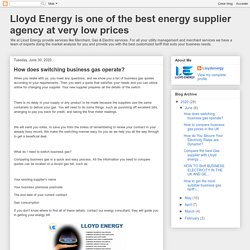 How does switching business gas operate?