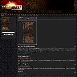 MDF Scenery Suppliers - Articles - DakkaDakka