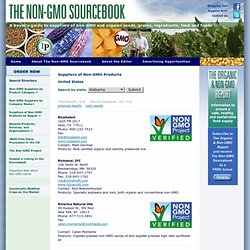 Non-GMO product suppliers United States directory