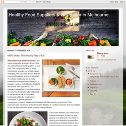 Healthy Food Suppliers & Distributor in Melbourne : MMG Meals: The Healthy Way to Eat
