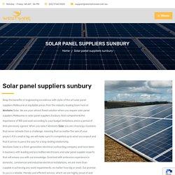 Solar Panel Suppliers Sunbury