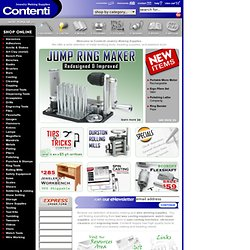 Jewelry Making Supplies | Contenti - Jewelers Tools, Beading Supplies, Metal Working Tools