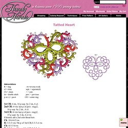 Free Tatted Heart Pattern - Tatting supplies including shuttles, thread, needles and more by Handy Hands Tatting