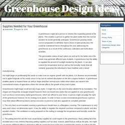Supplies Needed for Your Greenhouse – Greenhouse Design Ideas