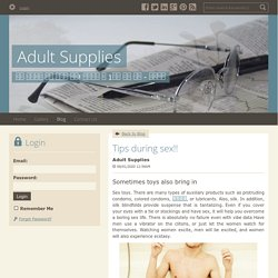 Tips during sex!! - Adult Supplies : powered by Doodlekit