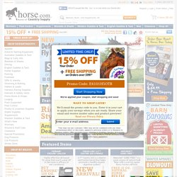 Horse Supplies, Dewormers, Equine Supplements & Tack - Horse.com