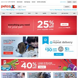 Pet Supplies, Pet Products, and Dog Beds Available at PETCO.com