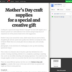 Mother's Day craft supplies for a special and creative gift