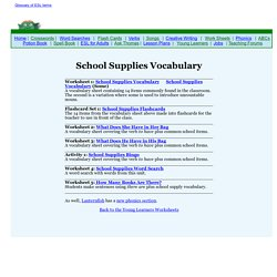 School Supplies Vocabulary for Young Learners