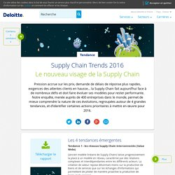 Supply Chain Trends 2016