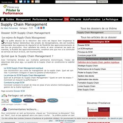 Supply Chain Management Dossier SCM
