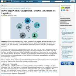 How Supply Chain Management Takes Off the Burden of Logistics? by Hayley B.