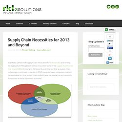 Supply Chain Necessities for 2013 and Beyond