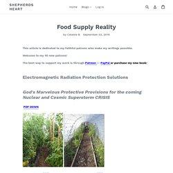 Food Supply Reality – Shepherds Heart