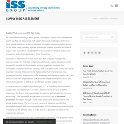 Supply Risk Wheel and Matrix Assessment - ISS Group