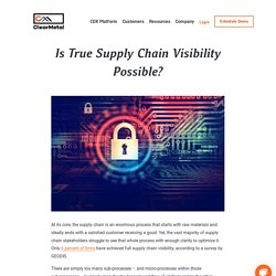 Is True Supply Chain Visibility Possible? Find Your Answer!