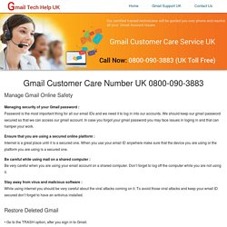 Gmail Support UK 08000903883