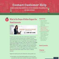 What is the Scope of Online Support for Gmail Accounts