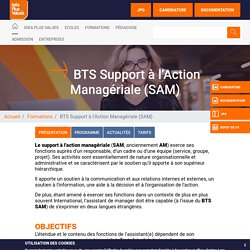 BTS Support à l'Action Managériale (SAM) Paris - Isifa Plus Values