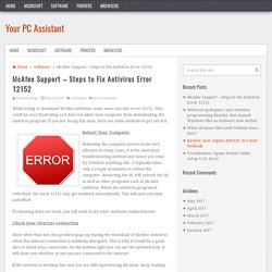 McAfee Support – Steps to Fix Antivirus Error 12152