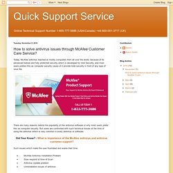 Quick Support Service: How to solve antivirus issues through McAfee Customer Care Service?