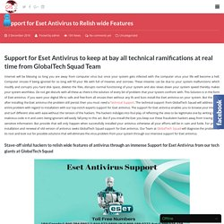 Support for Eset Antivirus