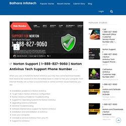 Norton Antivirus Tech Support Phone Number