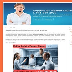 McAfee Support Canada Number 1-844-888-3870: Upgrade Your McAfee Antivirus With Help Of Our Technician
