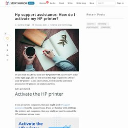 Hp support assistance: How do I activate my HP printer?