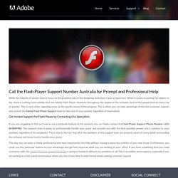 Adobe Flash Player Support Australia Number +(61) 863889986