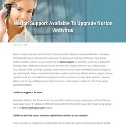 Norton Support Available To Upgrade Norton Antivirus
