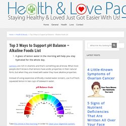 Top 3 Ways to Support pH Balance - Alkaline Foods List