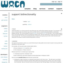 support bidirectionality