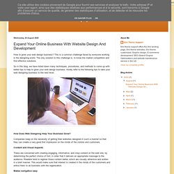 Expand Your Online Business With Website Design And Development