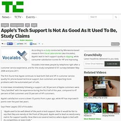 Apple's Tech Support Is Not As Good As It Used To Be, Study Claims