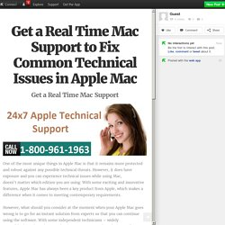 Get a Real Time Mac Support to Fix Common Technical Issues in Apple Mac