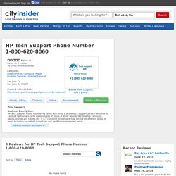 HP Tech Support Phone Number 1-800-620-8060 @cityinsider
