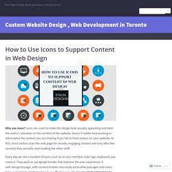 How to Use Icons to Support Content in Web Design – Custom Website Design , Web Development in Toronto