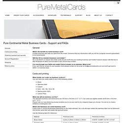Support Pure Continental Metal Business Cards
