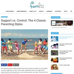 Support (Warmth) vs Control: The 4 Classic Parenting Styles
