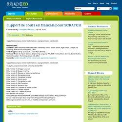 Support de cours en français pour SCRATCH