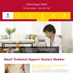 Gmail Support Phone Number at Toll free Number - 1-844-952-7360