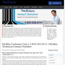 McAfee Support Customer Care 1-844-745-1521 Service Number Help