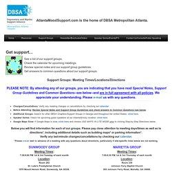 Support Groups - Depression Bipolar Support Alliance Metro Atlanta