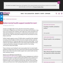 Better mental health support needed for men! - Employee Benefits