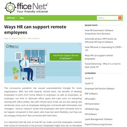 Ways HR can support remote employees